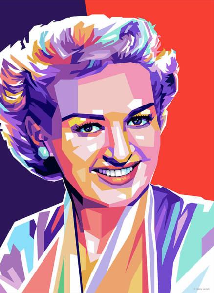 Pop Star Digital Art - Betty Grable Pop Art by Stars-on- Art