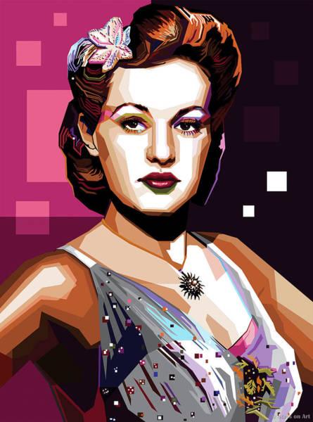 Pop Star Digital Art - Betty Grable by Stars-on- Art