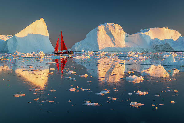 Photograph - Between Icebergs by Michael Blanchette