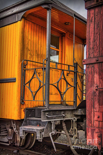 Photograph - Between Railroad Cars by Janice Pariza