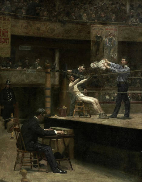 Wall Art - Painting - Between Rounds, 1890 by Thomas Eakins