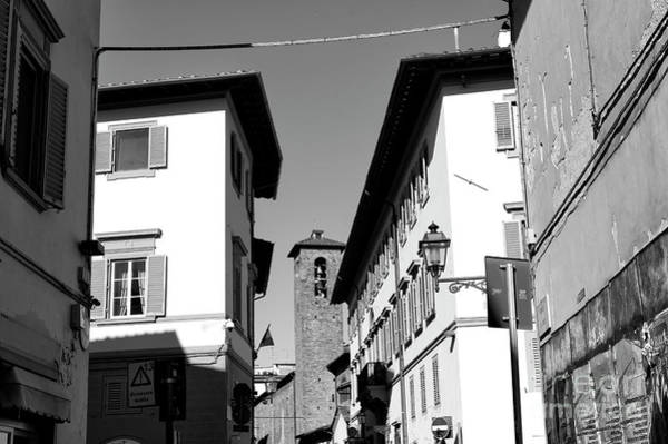 Photograph - Between The White Buildings In Florence by John Rizzuto