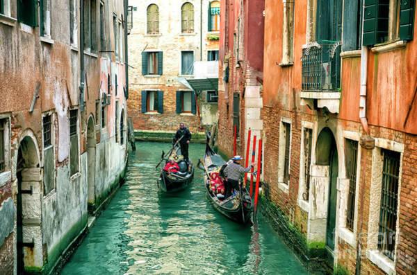 Photograph - Between Two Buildings In Venezia by John Rizzuto