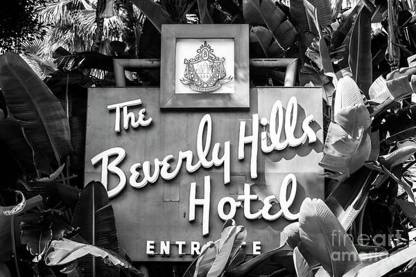 Photograph - Beverly Hills Hotel And Bungalows Sign by John Rizzuto