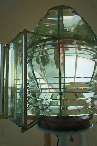 Photograph - Beverly Hospital Point Fresnel Lens by Jeff Folger