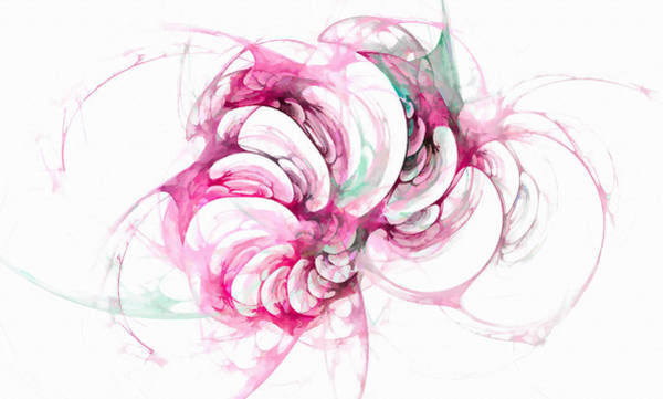 Digital Art - Beyond Abstraction Pink by Don Northup