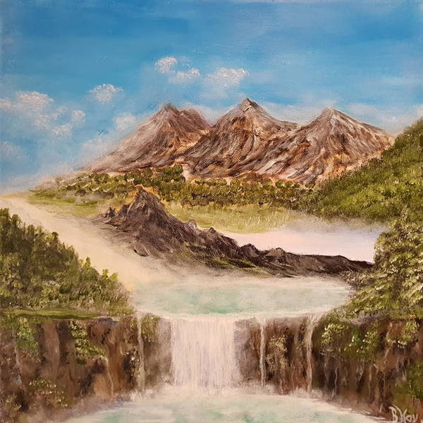 Painting - Beyond The Mountains by Bernd Hau