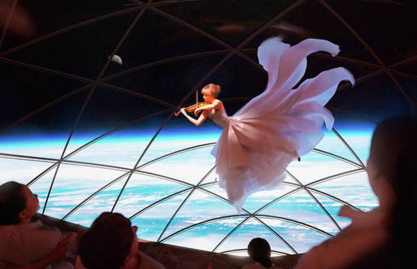 Wall Art - Digital Art - Bfr Space Music Performance Inside Spacex Big Falcon Rocket by Pic by SpaceX Edit by M Hauser