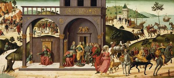 Wall Art - Painting - Biagio Dantonio - The Story Of Joseph C.1485 by Celestial Images