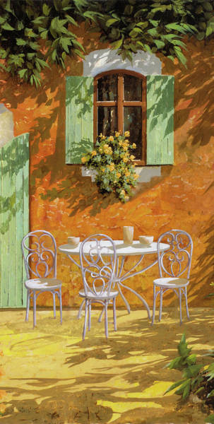 Wall Art - Painting - Bianco Su Giallo by Guido Borelli