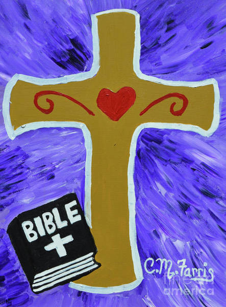 Painting - Bible Study by Christopher Farris