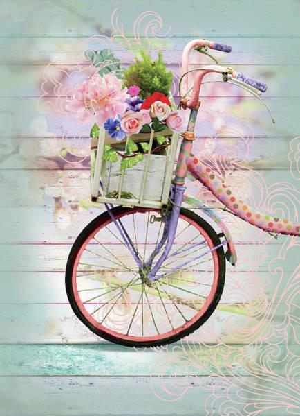 Wall Art - Mixed Media - Bicycle by A.v. Art