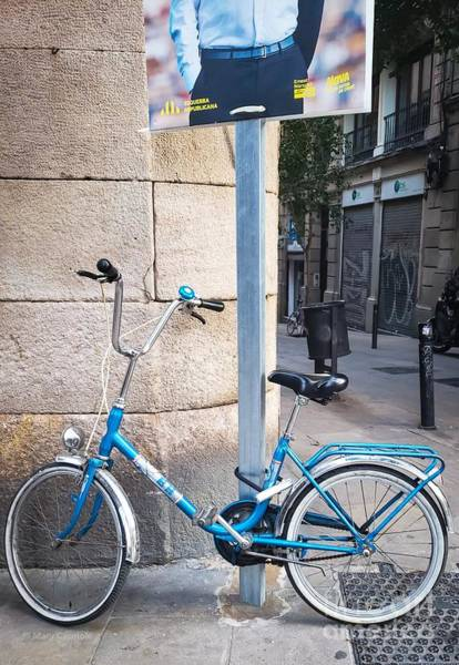 Photograph - Bicycle Blue by Mary Capriole