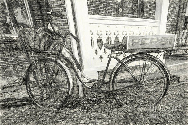Wall Art - Digital Art - Bicycle In Franklin Wv 1640ctticharcoal by Doug Berry