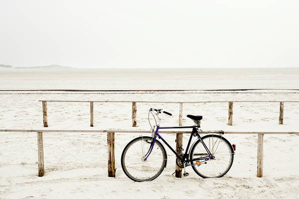 Wall Art - Photograph - Bicycle On Beach by Jorg Greuel