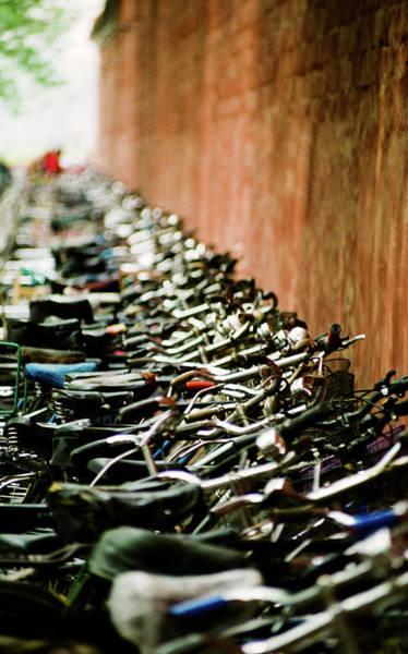 Bicycle Rack Photograph - Bicycle Rack In Beijing by Lynn Koenig