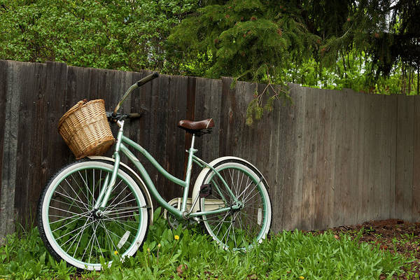 Bicycle Photograph - Bicycle With Wooden Fence by Jeffrey Kaphan