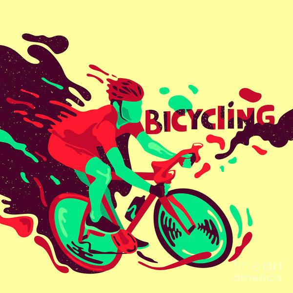 Wall Art - Digital Art - Bicycling. Healthy Lifestyle. Sports by Daria i