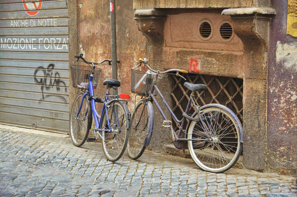 Photograph - Bicycling Thru Rome by JAMART Photography
