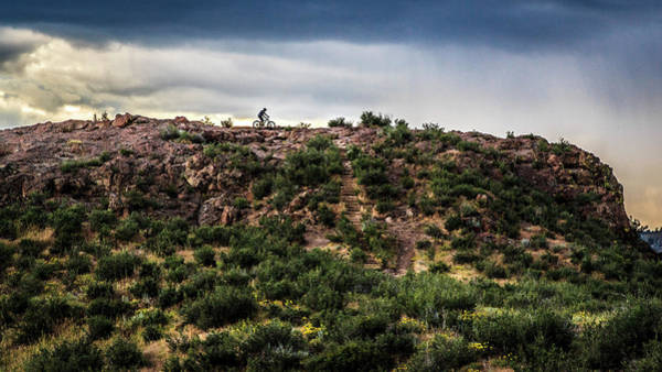 Photograph - Bicyclist On South Table Mountain by Jeanette Fellows