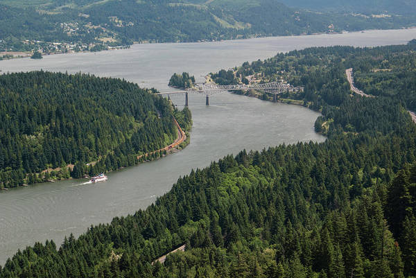 Bridge Photograph - Bidge Of The Gods, Oregon, Columbia by Nwbob
