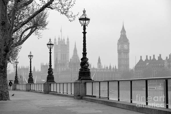 Wall Art - Photograph - Big Ben & Houses Of Parliament, Black by Tkemot