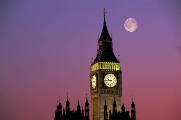 The Clock Tower Photograph - Big Ben & Parliament In London by Romilly Lockyer