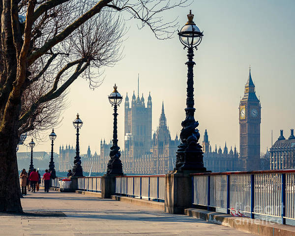 Wall Art - Photograph - Big Ben And Houses Of Parliament In by S.borisov
