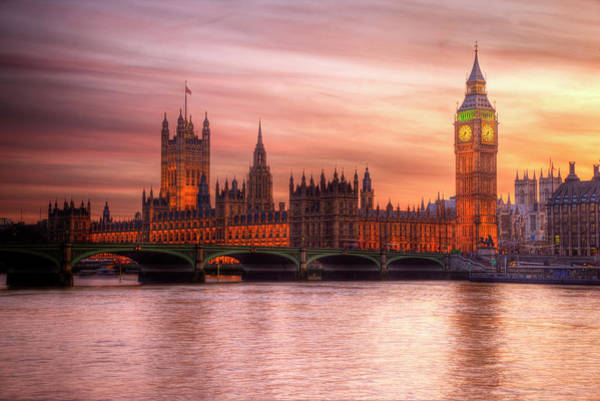 English Culture Photograph - Big Ben And Houses Of Parliament by Luis Davilla