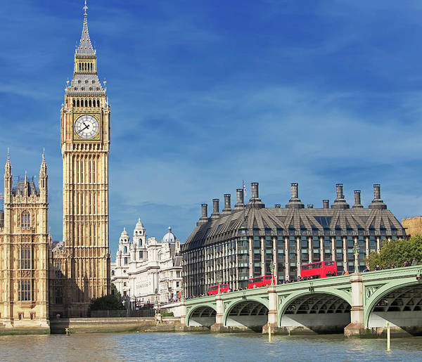 Wall Art - Photograph - Big Ben And Houses Of Parliament by Marco Simoni