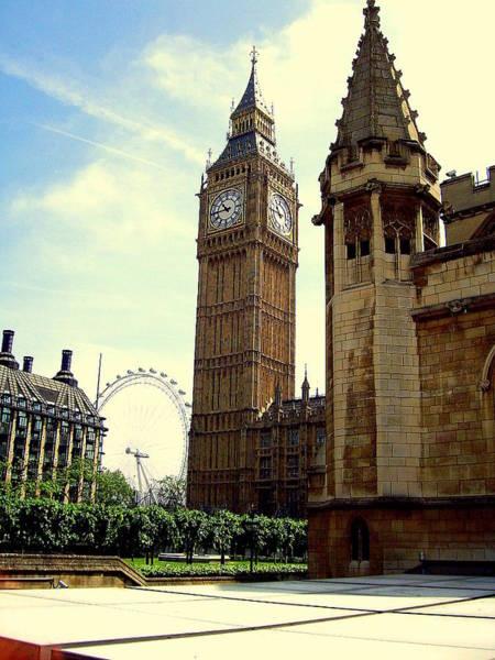 Photograph - Big Ben And London Eye by Chance Kafka