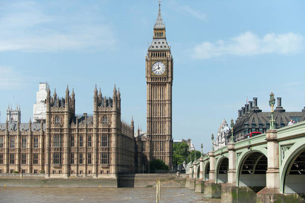 Democracy Photograph - Big Ben And Westminster Bridge by Malcolm Park