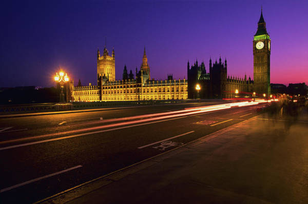 Houses Of Parliament Photograph - Big Ben Clock Tower, London, Uk by Stuart Dee