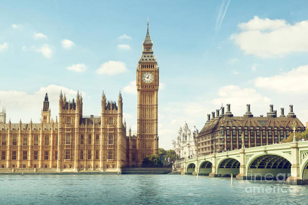 Wall Art - Photograph - Big Ben In Sunny Day, London by Esb Professional