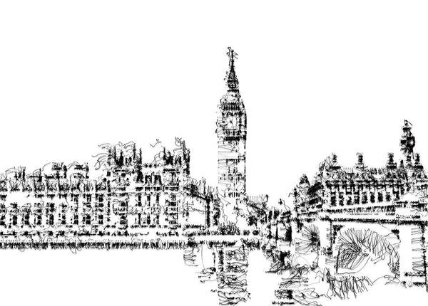 Digital Art - Big Ben by ISAW Company