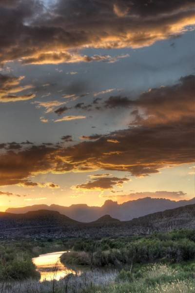 Wall Art - Photograph - Big Bend Sunset Rio Grande by Jane Linders