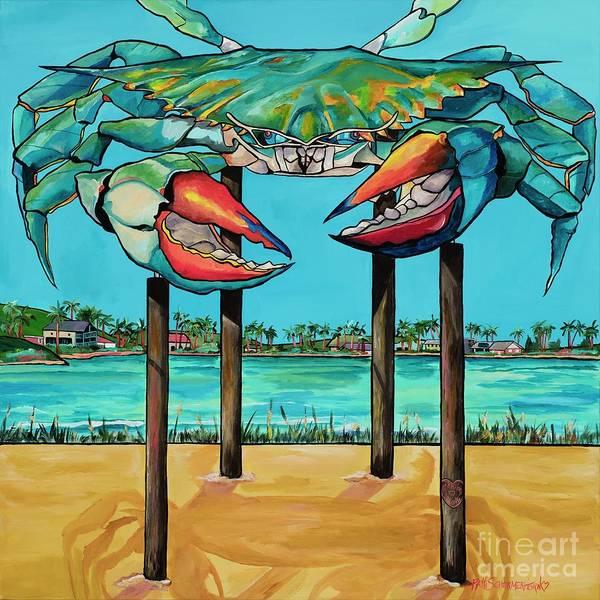 Painting - Big Blue Crab Rockport by Patti Schermerhorn