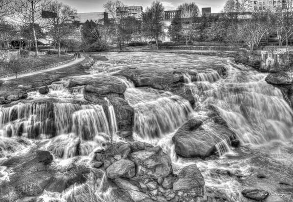 Wall Art - Photograph - Big Brother B W Reedy River Falls Park Greenville South Carolina Art by Reid Callaway