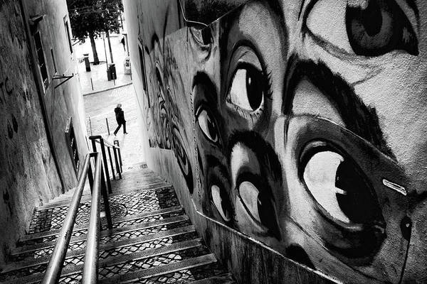 Wall Art - Photograph - Big Brother In The Stairway by Carlos Caetano