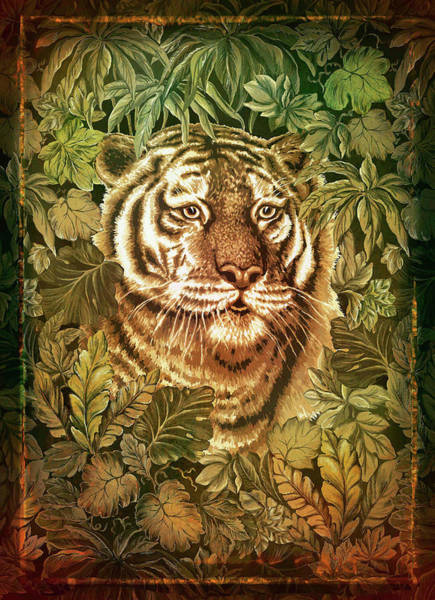 Wall Art - Digital Art - Big Cat by Grace Iradian