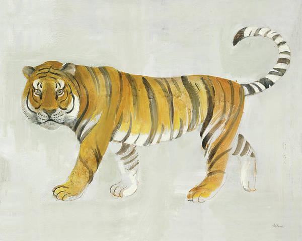African Tiger Wall Art - Painting - Big Cat II V2 by Albena Hristova