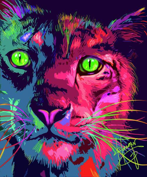 Painting - Big Cat Popcat Pierre by DC Langer