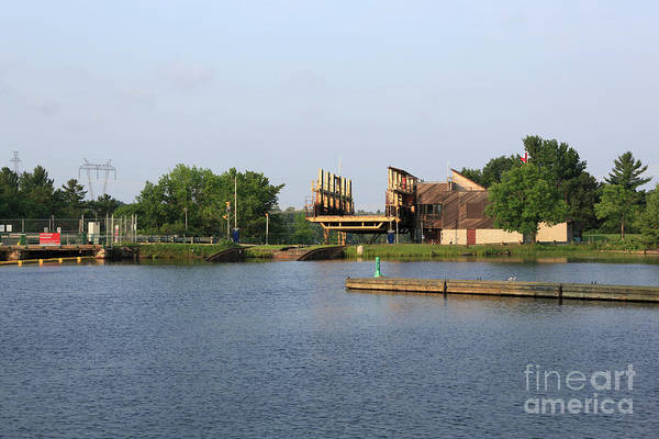Wall Art - Photograph - Big Chute Marine Railway, Trent Severn Waterway, Ontario by Louise Heusinkveld
