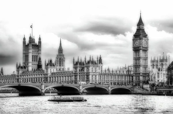 Photograph - Big Clock In London Soft by Ken Johnson