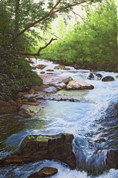 Wall Art - Painting - Big Cottonwood Canyon #5 by Artell Harris
