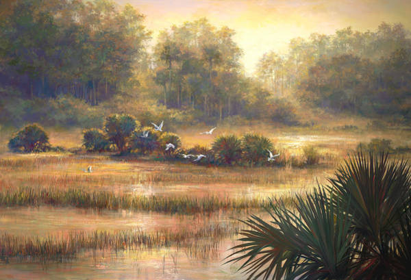 Lake Okeechobee Wall Art - Painting - Big Cypress by Laurie Snow Hein