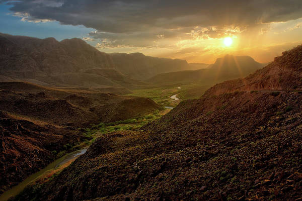 Photograph - Big Hill Sunset At Big Bend by Harriet Feagin