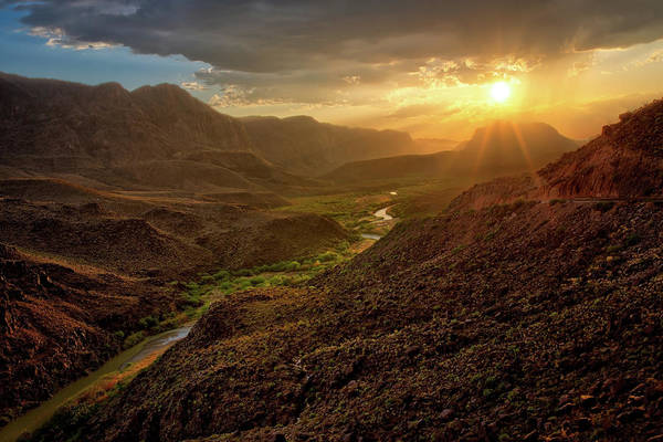 Photograph - Big Hill Sunset  by Harriet Feagin