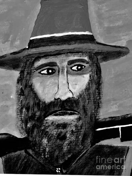 Wall Art - Painting - Big Jim In Black And White by Jeffrey Koss