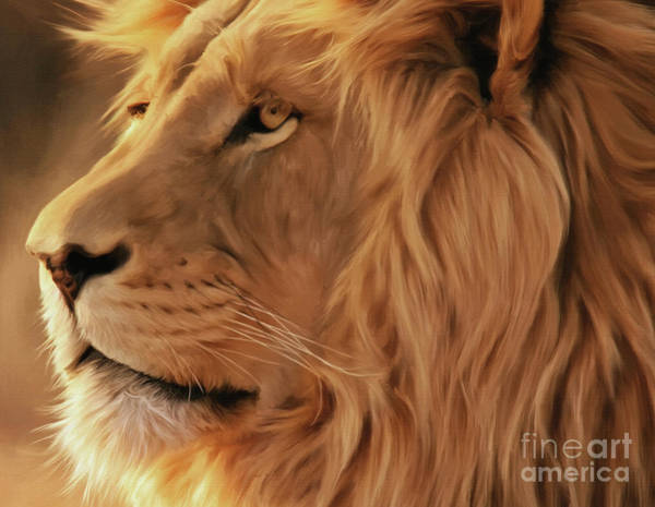 Big Five Painting - Big Lion  by Gull G
